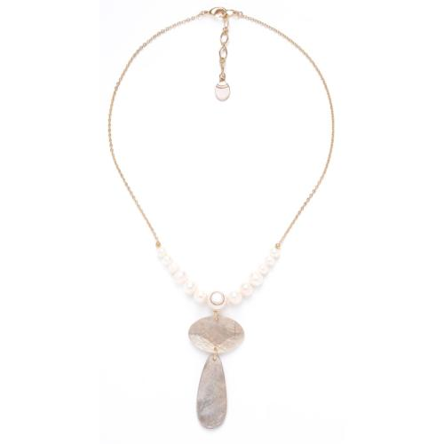 Collier pampille coquillage de Capiz SWEET PEARL